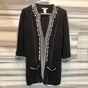 Nanette Lepore beaded cardigan